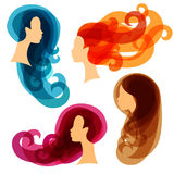 Women concept silhouettes for beauty or Stock Image