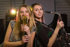 Women at concert Royalty Free Stock Photography