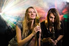 Women at concert Royalty Free Stock Images