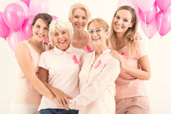 Women conducting campaign against cancer Royalty Free Stock Photo