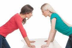 Women confrontation. Stock Photos