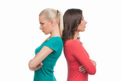 Women confrontation. Royalty Free Stock Photos