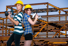 Women Construction Workers Royalty Free Stock Photography