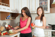 Women cooking at them kitchen Stock Photo