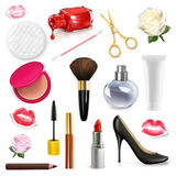 Women cosmetics and accessories Royalty Free Stock Photography