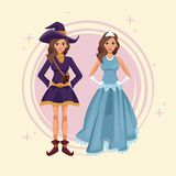 Women cosplay style. Icon vector illustration graphic design Royalty Free Stock Images