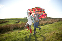 Women in countryside Royalty Free Stock Photography