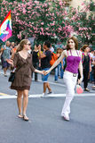Women couple. Gay Pride 2009 Stock Photo