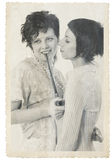 Women couple vintage photo stylization Stock Photography
