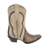 Women cowboy boot, handmade knitted Royalty Free Stock Image