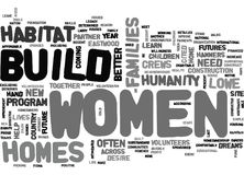 Women Crews Build Homes And Dreams Word Cloud Royalty Free Stock Image