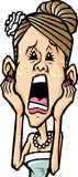 Women cry. It is to panic and rush to women cry Royalty Free Stock Photo