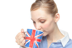 Women with a cup Royalty Free Stock Photo