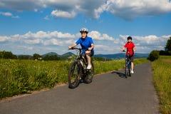 Women cycling Stock Photography