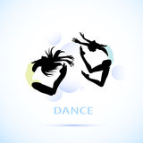 Women in dance stock illustration