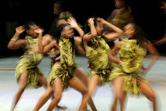 Women dance performance Stock Photography