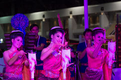 Women dance thailand northeast culture style Stock Photography