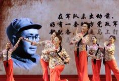 Women dance to commemorate liubocheng(1892.12.4—1986.10.7). The girls dancing to commemorate marshal liu bocheng in amoy city, china Royalty Free Stock Photo
