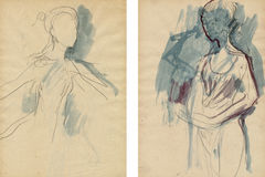 Women dancers 5, drawing Stock Image