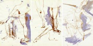 Women dancers 6, drawing Stock Image