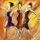 Women dancing Royalty Free Stock Image