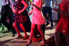Women dancing at the party Stock Photography