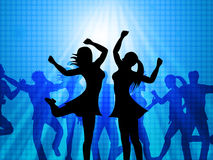 Women Dancing Represents Disco Music And Adults Royalty Free Stock Image