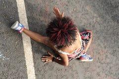 Women dancing in road Royalty Free Stock Image