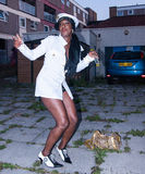 Women dancing at saint paul's carnival, bristol, uk. Black women dancing at saint paul's carnival, bristol, uk (away from the crowd Stock Photo