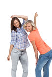 Women dancing together Stock Photo