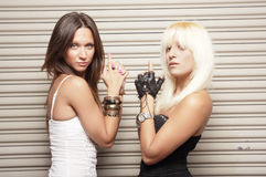 Women of danger Royalty Free Stock Image