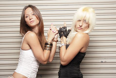 Women of danger Royalty Free Stock Photography