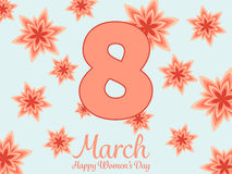 Women day background with frame flowers. Stock Photography