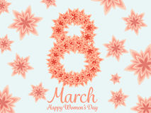 Women day background with frame flowers. Royalty Free Stock Images