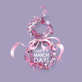 Women day background Royalty Free Stock Image