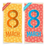 Women Day banners Royalty Free Stock Images