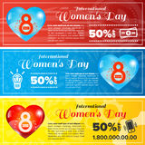 Women day banners set Royalty Free Stock Photo