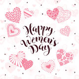 Women Day card Stock Images