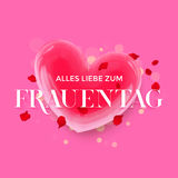 Women Day German Frauentag 3d heart greeting card Stock Photography