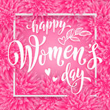 Women Day greeting card of flowers pattern background Royalty Free Stock Images
