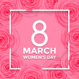 Women Day 8 March greeting card of flowers pattern background Royalty Free Stock Image
