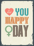 Women day with vintage  background Stock Images