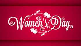 Women Day Vintage Lettering Banner Background. 10 eps stock illustration