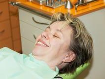 Women in dental examination Stock Photography