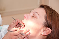 Women in the dental practice Stock Image