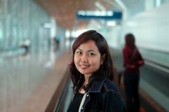 Women -Departure. Departure - airport series stock photos