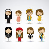 Women design. Over gray background vector illustration Stock Photography