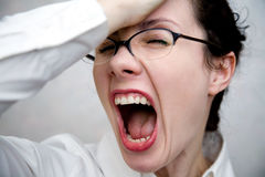 Women in Despair Royalty Free Stock Photography
