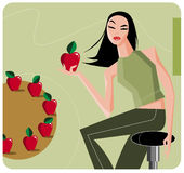 Women_diet Royalty Free Stock Photo