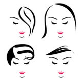 Women with different hairstyles Royalty Free Stock Photo